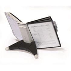 Durable Stojan na stôl SHERPA s 10 panelmi čierna/sivá