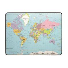 Durable Podložka na stôl s mapou sveta 40x53cm