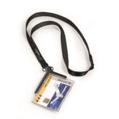 Durable Visačka na plastovú kartu s remienkom CARD HOLDER DE LUXE 85x54mm 10ks