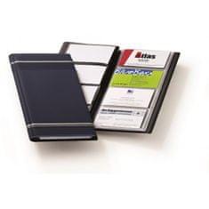 Durable Vizitkár prenosný na 96 vizitiek VISIFIX s prúžkami tmavomodrý