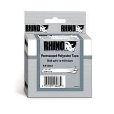 Dymo Permanentná polyesterová páska D1 12 mm biela/čierna