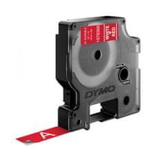 Dymo Permanentná vinylová páska D1 12 mm červená/biela