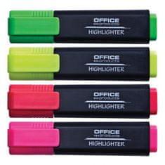 OFFICE products Sada zvýrazňovačov Office Products 4S