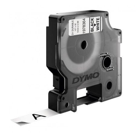 Dymo Permanentná vinylová páska D1 12 mm biela/čierna