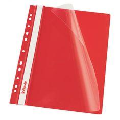 Esselte Rýchloviazač PVC s eurodierovaním VIVIDA červený