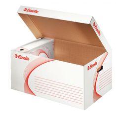 Esselte Archívna škatuľa so sklápacím vekom biela/červená