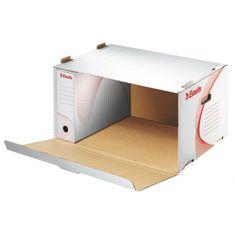 Esselte Archívna škatuľa s predným otváraním biela/červená
