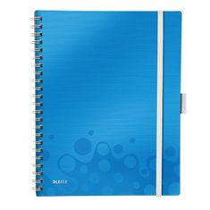 LEITZ Blok poznámkový linajkový mobilný WOW A4 modrý