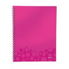 LEITZ Blok poznámkový štvorčekový organizačný WOW A4 metalická ružová