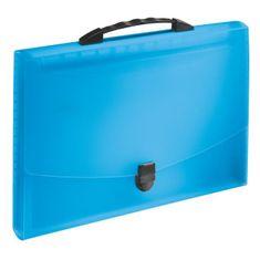 Esselte Aktovka plastová s priehradkami a držadlom VIVIDA modrá