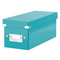 LEITZ Škatuľa na CD Click & Store ľadovo modrá