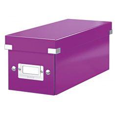 LEITZ Škatuľa na CD Click & Store purpurová