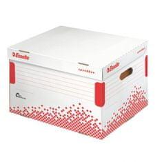 Esselte Archívna škatuľa Speedbox so sklápacím vekom biela/červená