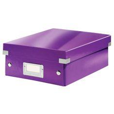 LEITZ Malá organizačná škatuľa Click & Store purpurová
