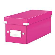 LEITZ Škatuľa na CD Click & Store ružová