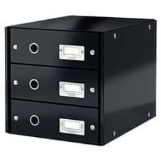 LEITZ Zásuvkový box Click & Store 3 zásuvky čierny