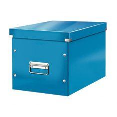 LEITZ Štvorcová škatuľa Click & Store A4 metalická modrá
