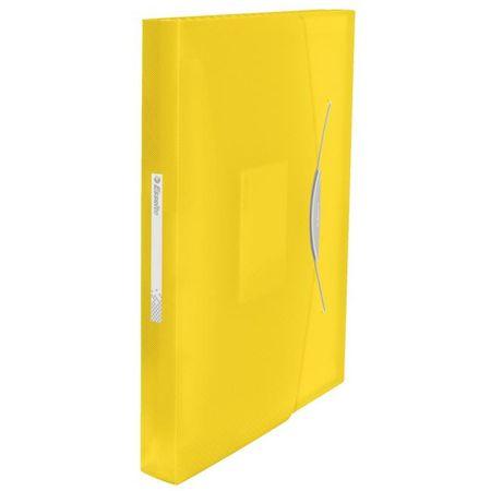 Esselte Aktovka plastová s priehradkami VIVIDA žltá
