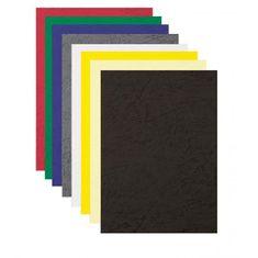 Fellowes Kartónové obálky na krúžkovú väzbu Delta koža A4 biele
