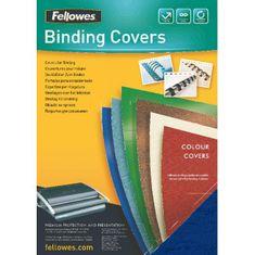 Fellowes Kartónové obálky na krúžkovú väzbu Delta koža A4 tmavomodré