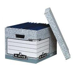 Fellowes Archívna škatuľa s odnímacím vekom BANKERS BOX sivá/biela