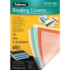 Fellowes Plastové obálky na krúžkovú väzbu Prestige A4 240 mic. číre