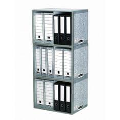 Fellowes Archív na zakladače BANKERS BOX sivý/biely