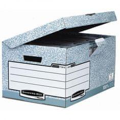 Fellowes Archívna škatuľa so sklápacím vekom BANKERS BOX sivá/biela
