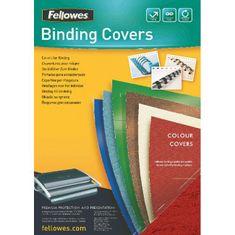 Fellowes Kartónové obálky na krúžkovú väzbu Delta koža A4 tmavočervené