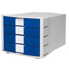 Han Zásuvkový box Impuls sivý/modrý