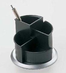Helit Rotačný štvordielny stojan čierno/strieborný