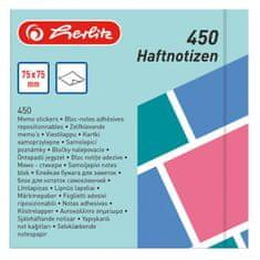 Herlitz Bloček Color Blocking 75x75mm 450 listov farebný