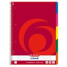 Herlitz Blok poznámkový College A4 štvorčekový 100 listov + register