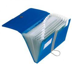 Herlitz Aktovka plastová s priehradkami Easy Orga nepriehľadná modrá
