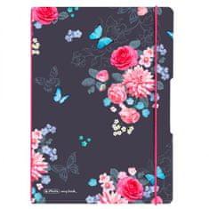 Herlitz Zošit my.book Flex Ladylike A4 2x40 listov linajkový štvorčekový PP Kvety