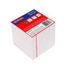 Herlitz Blok kocka lepená 90x90x90mm biela