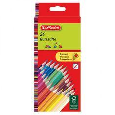 Herlitz Farbičky trojhranné 24 farieb