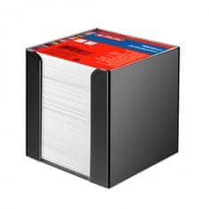 Herlitz Blok kocka nelepená 90x90x90mm biela v čiernej škatuľke