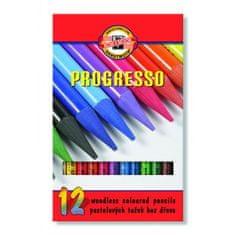 KOH-I-NOOR Pastelová ceruzka v laku PROGRESSO, 24 ks