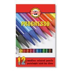 KOH-I-NOOR Pastelová ceruzka v laku PROGRESSO, 12 ks