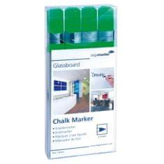 Legamaster Popisovač na tabule GLASSBOARD zelený 4ks
