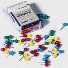Legamaster Napichovacie špendlíky guľaté 6mm mix farieb 200ks