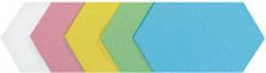 Legamaster Moderačné šesťuholníky 16,5x19 cm mix 250 ks
