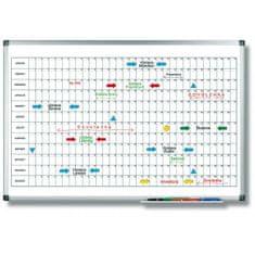 Legamaster Plánovacia tabuľa ročná PREMIUM horizontálna 60x90 cm