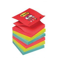 """Post-It Z-bločky Super Sticky """"Bora Bora"""" 76x76mm"""