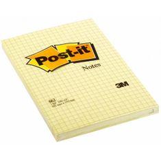 Post-It Bloček 102x152 žltý štvorčekový