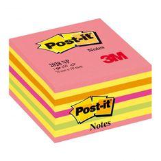 Post-It Bloček kocka 76x76 neónová ružová mix