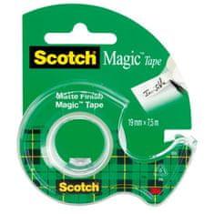 3M Lepiaca páska Scotch Magic neviditeľná popisovateľná 19mmx7,5m s dispenzorom