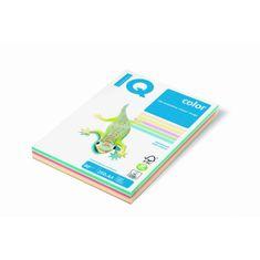 Mondi Farebný papier IQ color 5x50 mix pastelové farby, A4 80g