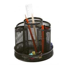 Q-Connect Drôtený stojan na perá Q-connect otočný čierny